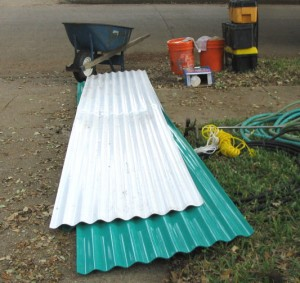 Heavy corrigated vinyl sheets