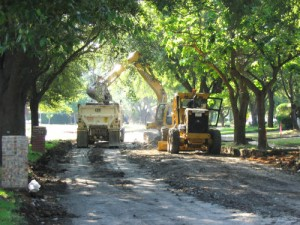 street repairs needed after clay soil movement